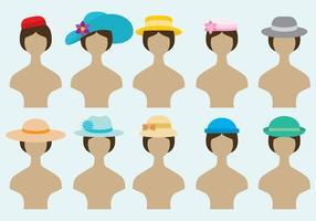Vetores de chapéus femininos