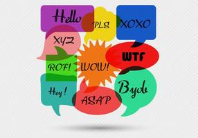 Free Speech Bubbles Message Vector