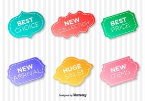 Etiquetas de vectores de garantía de calidad