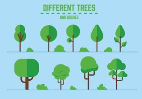 Arbres et arbustes vectoriels gratuits