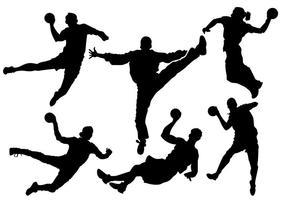 Vector grátis de silhueta de handball
