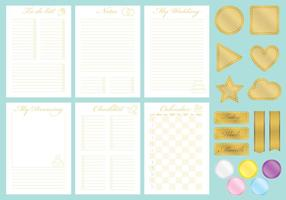 Gouden Wedding Organizer Vectoren