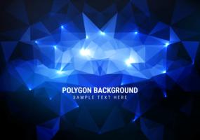 Fond bleu gratuit pour vecteur polygone
