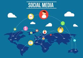 Libre de medios de comunicación social Vector