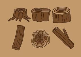 Vector de madera de los registros