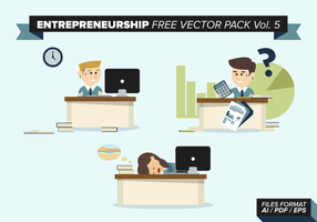 Entreprenörskap Gratis Vector Pack Vol. 5