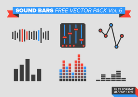 Sound Bars Free Vector Pack Vol. 6