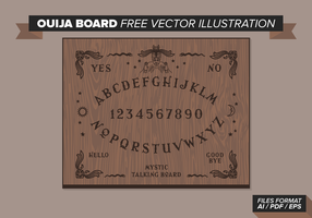 Ouija board illustration vectorielle gratuite