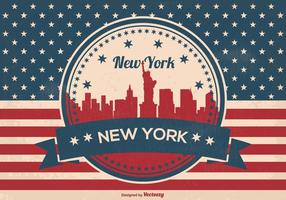 Retro New York Skyline Illustration
