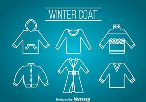 Wintercoat Pictogrammen Vector