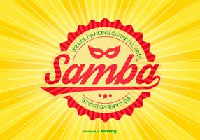 Samba Colorful Vector Illustration