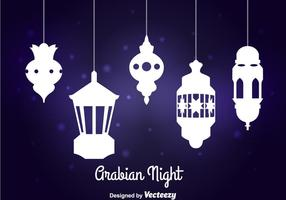 Vecteur de lampe de nuit arabe