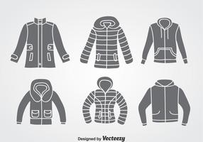 Wintermantel Vektor Sets