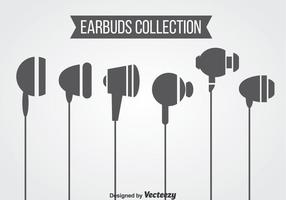 Ears Buds Collection Vector