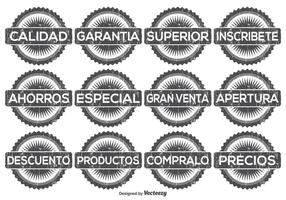 Beunruhigtes spanisches Werbeschild Set
