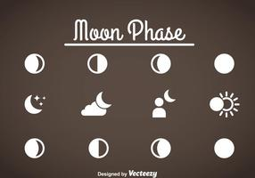 Moon Phase Icons Vector