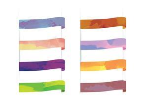Vector vattenfärgband
