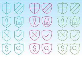 Shield Icons For Web vector