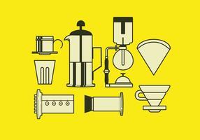 Outil de brassage de café vectoriel
