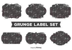 Messy Grunge Label Set vector