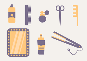 Hair Styling Elements Vector