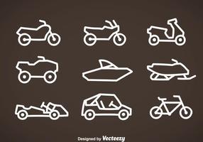 Vecteur d'icônes de ligne de véhicule