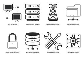 Modern Computing Icon vector