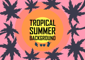 Free Tropical Background Vector