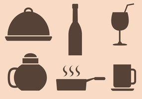 Free Restaurant Icons Vector