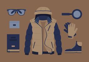 Ropa de los hombres y vectores accesorios
