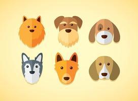 Conjunto de vectores de perros