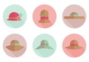 Flat Hat Vector Icons