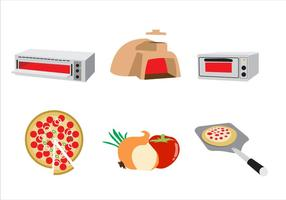 Koken Pizza Illustratie Vector