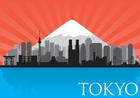 vettore di skyline di Tokyo