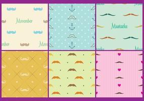 Movember Pattern Vektoren