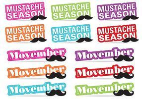 Movember Titel Vectoren