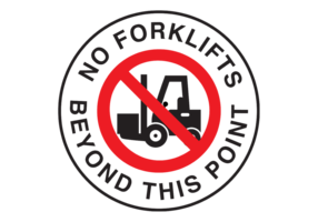 No Forklift Vector Sign