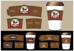 Coffee Sleeve Templates Vector Set