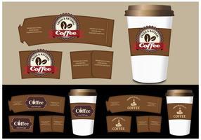Kaffee-Hülle Vorlagen Vektor-Set