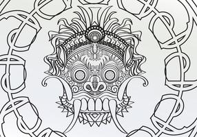 Colorindo Adulto Barong Page Vector
