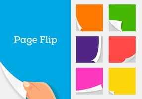 Vector pagina flip