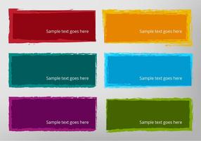 Free Vector Eroded Banners