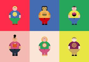 Overweight People Vectors