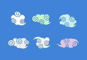 Gratis Chinese Wolken Vector Pack