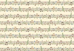 Seamless Free Vector Background With Musical Notes