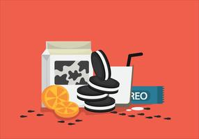 Free Oreo Vector Illustration #2