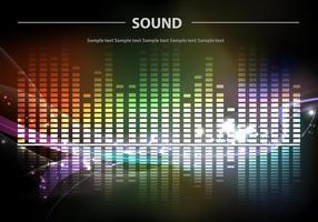 Barras de sonido Fondo Vector de colores