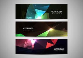 Gratis Vector Färgglada Headers