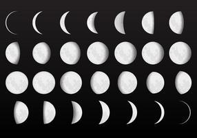 Vetores completos da fase da lua