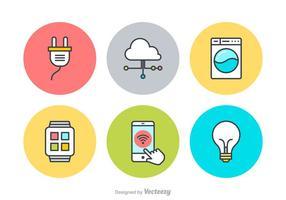 Internet gratis de las cosas iconos vectoriales